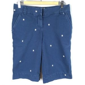 Bermuda shorts chino navy blue stars embroidered 4